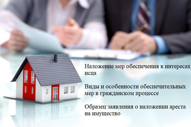 Наложение обеспечительных мер в гражданском судопроизводстве + заявление в суд общей юрисдикции